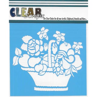 "Clear Scraps Stencils 12""X12""-Mixed Basket"