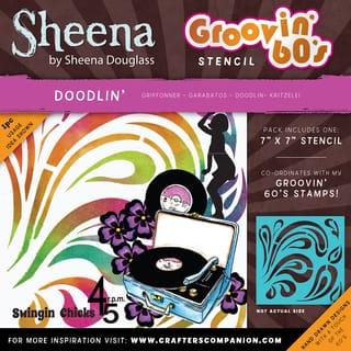 "Sheena Douglass Grooving 60s Stencil 7""X7""-Doodlin|https://ak1.ostkcdn.com/images/products/15613396/P22047236.jpg?impolicy=medium"