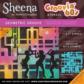 "Sheena Douglass Grooving 60s Stencil 7""X7""-Geometric Groove|https://ak1.ostkcdn.com/images/products/15613397/P22047237.jpg?_ostk_perf_=percv&impolicy=medium"
