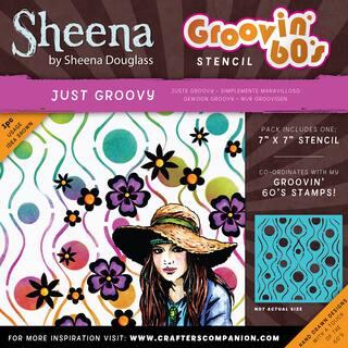 "Sheena Douglass Grooving 60s Stencil 7""X7""-Just Groovy|https://ak1.ostkcdn.com/images/products/15613398/P22047238.jpg?impolicy=medium"