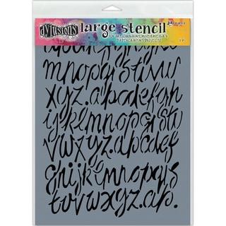 "Dyan Reaveley's Dylusions Stencils 9""X12""-Modern Script"