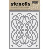 "Hero Arts Stencil 6.25""X5.25""-Love Swirls"