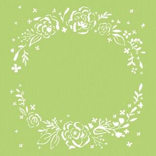 """Kaisercraft Designer Template 6""""X6""""-Floral Wreath"""
