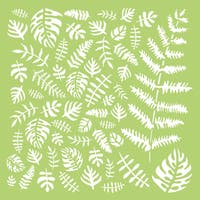 "Kaisercraft Designer Template 6""X6""-Tropical Leaves"