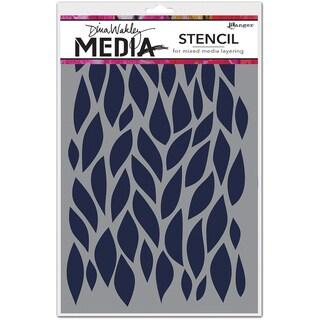 "Dina Wakley Media Stencils 9""X6""-Big Leafy"