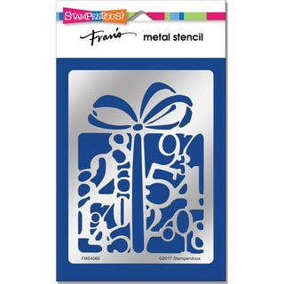 Stampendous Metal Stencil-Numerical Gift