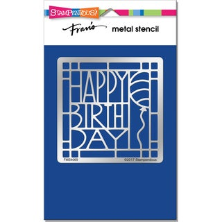 Stampendous Metal Stencil-Birthday Ensemble