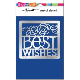 Stampendous Metal Stencil-Best Wishes Ensemble