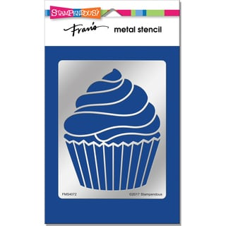Stampendous Metal Stencil-Creamy Cupcake