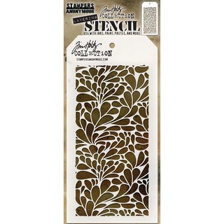 "Tim Holtz Layered Stencil 4.125""X8.5""-Splash"