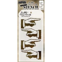"Tim Holtz Layered Stencil 4.125""X8.5""-Direction"