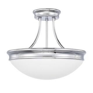 Capital Lighting Traditional 3-light Chrome Semi-Flush Mount