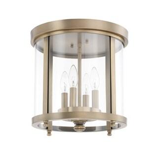 Capital Lighting Traditional 4-light Aged Brass Flush Mount