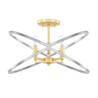 Capital Lighting Fire & Ice Collection 4-light Fire and Ice Semi-Flush Mount