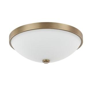 Capital Lighting Traditional 2-light Aged Brass Flush Mount