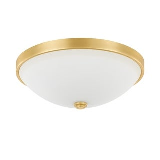 Capital Lighting Traditional 2-light Capital Gold Flush Mount