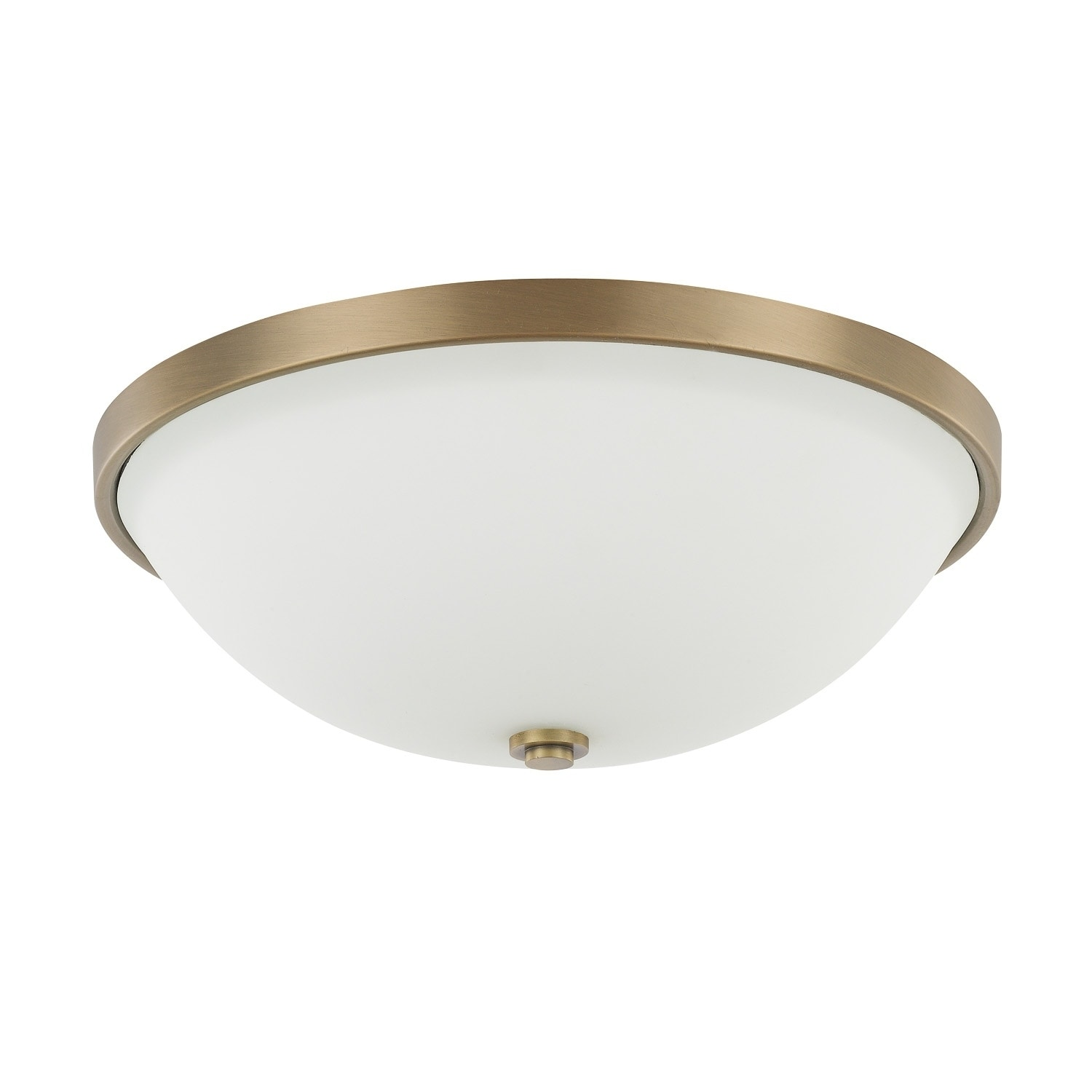 Shop 3 Light Aged Brass Flush Mount Overstock 15613687
