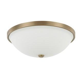 Capital Lighting Traditional 3-light Aged Brass Flush Mount