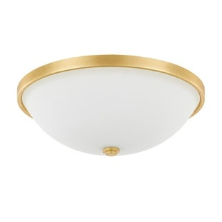 Capital Lighting Traditional 3-light Capital Gold Flush Mount
