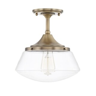 Capital Lighting Baxter Collection 1-light Aged Brass Semi-Flush Mount