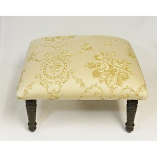 Corona Decor Toile Flora Bouquet Design Cream Footstool