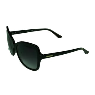 Guess Fashion Womens GU7428 01B Shiny Black w/Gradient Grey Lens Sunglasses
