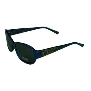 Guess Fashion Womens GU7425 90A Shiny Bluew/ Smoke Grey Lens Sunglasses