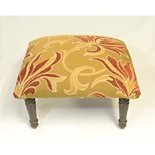 Corona Decor Sarafin Design Gold and Red Footstool