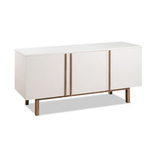 Vitra White and Natural Brown 3-door Buffet