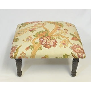 Corona Decor Asia Flora Vine Design Cream Footstool
