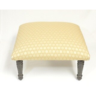Corona Decor Circles Geometric Design Beige and Cream Footstool