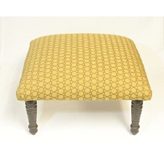 Corona Decor Circles Geometric Design Brown and Gold Footstool