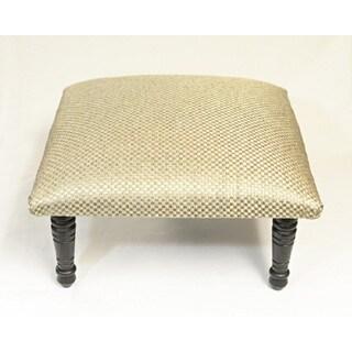 Corona Decor Basket Weave Design Pebble Grey Footstool