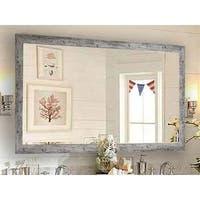 US Made Weathered White Farmhouse Mirror