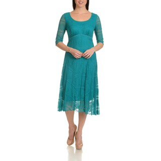 Rabbit Rabbit Rabbit Designs Women's Stretch Lace Dress https://ak1.ostkcdn.com/images/products/15614230/P22047849.jpg?_ostk_perf_=percv&impolicy=medium