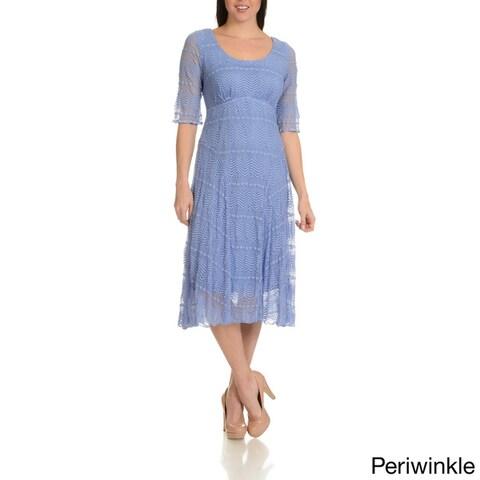 Rabbit Rabbit Rabbit Designs Women's Stretch Lace Dress