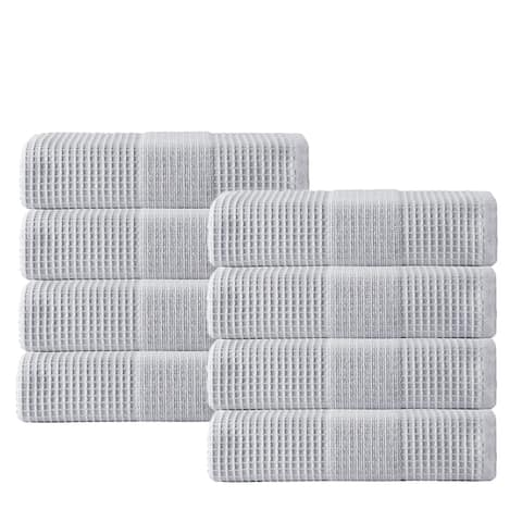 Enchante Home Ria Turkish Cotton Hand Towels (Pack of 8) - 16x28 inches