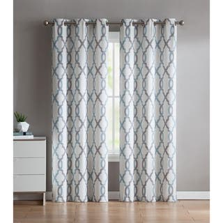 VCNY Home Caldwell Printed Curtain Panel Pair (Option: Aqua)|https://ak1.ostkcdn.com/images/products/15614259/P22048037.jpg?impolicy=medium