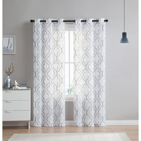 The Charlotte Emroidery Sheer Panel Pair