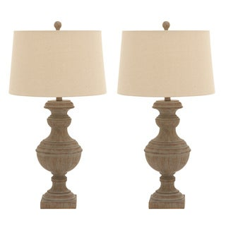 Urban Designs Polystone 30-inch Urn Style Distressed Table Lamp (Set of 2)