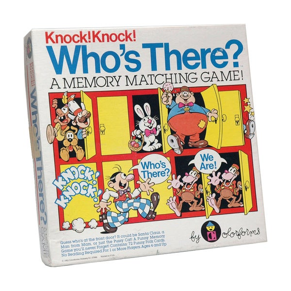 Knock. Knock. Who's There? Memory Matching Game