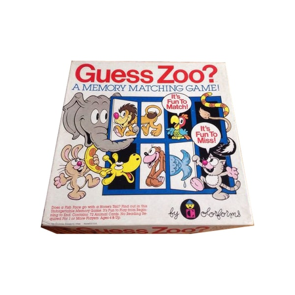 Guess Zoo? Memory Matching Game