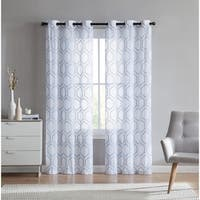 VCNY Home Empire Embroidered Sheer Grommet-top Curtain Panel Pair