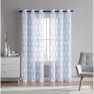 VCNY Home Empire Sheer Curtain Panel Pair (4 options available)