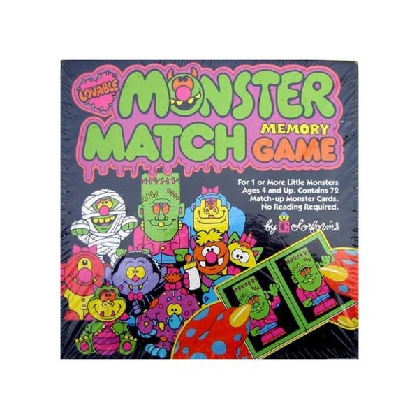 Monster Match Memory Game