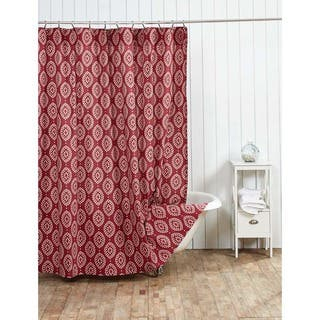 red and brown shower curtain. Paloma Shower Curtain Red Curtains For Less  Overstock com Vibrant Fabric Bath