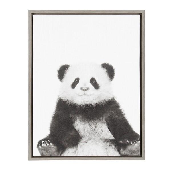 Designovation Sylvie Sitting Panda Black And White