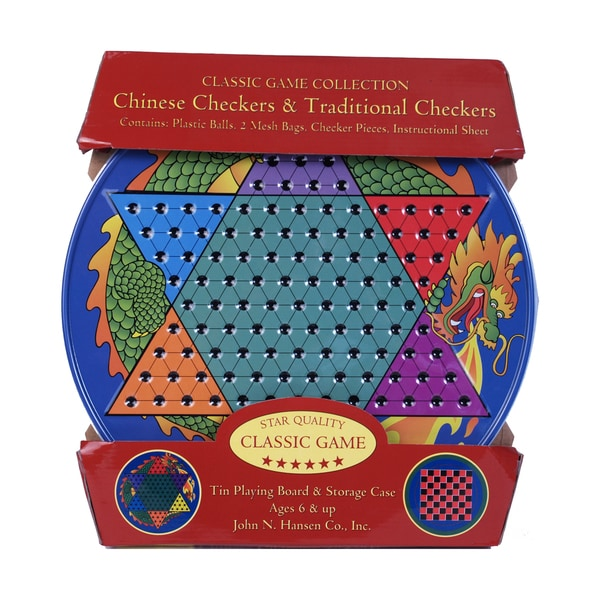 Chinese Checkers & Traditional Checkers Tin