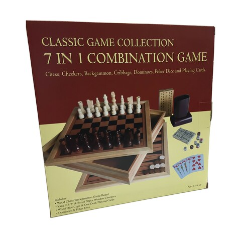 """7 in 1 Combination Game Set - 10.5"""" x 10.5"""""""