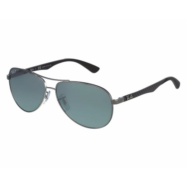 9145127379 Ray-Ban RB8313 004 K6 Gunmetal Frame Polarized Silver Mirror 58mm Lens  Sunglasses